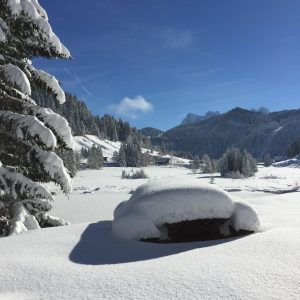 Morgins Lake Snowy Pic-nic Table